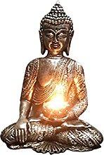 KKUUNXU Statua di Buddha Portacandele Giardino Zen