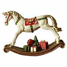 KKUUNXU Statua di Cavallo a Dondolo Animale