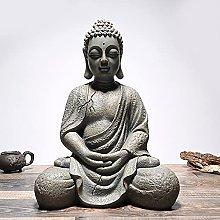 KKUUNXU Vintage Buddha Statue Indoor Outdoor