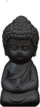 KKUUNXU Zen Tea Tray Home Decor Mini Buddha Statue