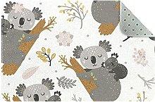 Koala e fiori, tappeto da cucina confortevole