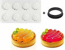 Koujing, stampo per torte in silicone a 8 fori,
