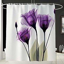 KUNLHF Tenda da docciaTulipano colorato Fiori di