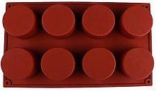 Kunyu - Stampo rotondo in silicone con 8 cavità