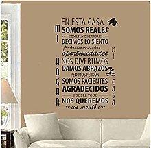 L'Adesivo Murale Utilizza Le Regole Della Casa