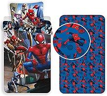 L.T.Preferita Spiderman 3pezzi Set Letto Singolo