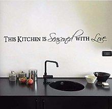 La Cucina È Condita Con Amore Citazione Adesivi