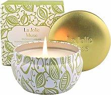 LA JOLIE MUSE Coconut Limeade Scented Candle,