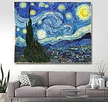 La Notte Stellata Van Gogh- Dipingi con i Numeri
