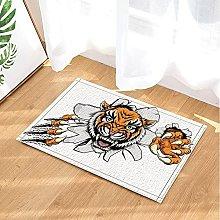 La tigre pazza ha rotto il muro Tappetino da bagno