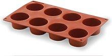 LACOR 66807- Stampo Silicone cilindrico 8 cavità