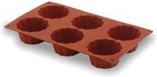 LACOR 66820- Stampo Silicone briochette 6 cavità