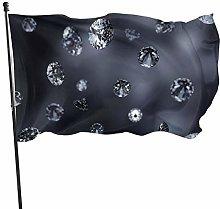LAKILAN Bling Bling Diamond Bandiera della