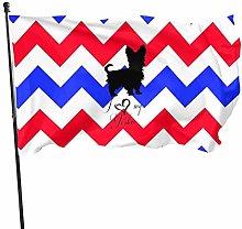LAKILAN Blue Red Wave Design Pastello Bandiera