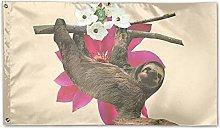 LAKILAN Design Semplice Scimmia Bandiera della