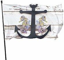 LAKILAN Nero Vecchio Design di Ancoraggio Bandiera
