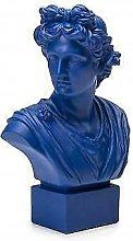 LAMART busto del Dio Apollo blu in resina cm 50