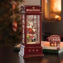 Lampada a LED Cabina telefonica con Babbo Natale
