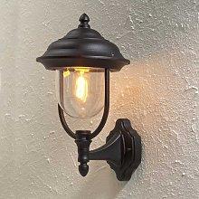 Lampada a muro da esterno Parma a stelo nera