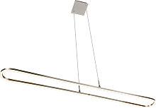 Lampada a sospensione acciaio LED dimm 3 livelli -