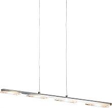 Lampada a sospensione acciaio plastica LED e