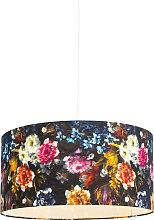 Lampada a sospensione bianca paralume fiore 50 cm