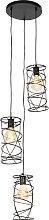 Lampada a sospensione design nera 3 luci - SPIRA