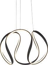 Lampada a sospensione di design nero dimm LED