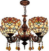 Lampada a sospensione in stile Tiffany, lampada a