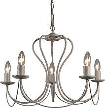 Lampada a sospensione lampadario classico taupe -