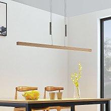 Lampada a sospensione LED di legno Tamlin, faggio