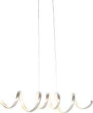 Lampada a sospensione moderna LED dimm acciaio
