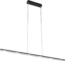 Lampada a sospensione nera LED dimmer tattile -