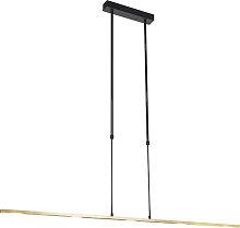 Lampada a sospensione nera oro LED dimmerabile -