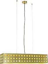 Lampada a sospensione oro 4 luce- CAGE 70s