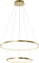 Lampada a sospensione oro LED - ANELLA Duo