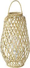 Lampada da esterno a lanterna intrecciata beige