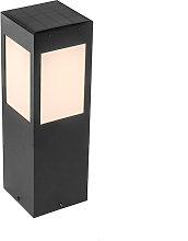 Lampada da esterno nera IP65 LED solare sensore
