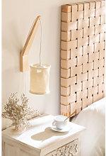 Lampada da parete con paravento sospeso Uroa Beige