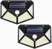 Lampada da parete solare 100LED con due lampade