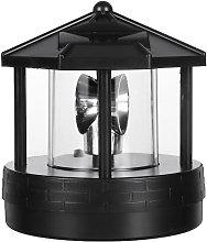 Lampada da prato rotante a LED a luce solare da