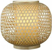 Lampada da tavolo con decorazioni intrecciate in
