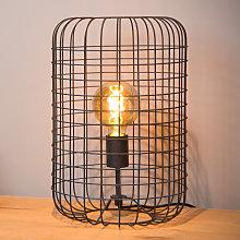 Lampada da tavolo Esmee, nero Ø 26 cm