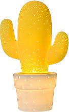 Lampada da tavolo in ceramica Cactus gialla