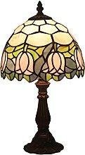 Lampada Da Tavolo in Stile Tiffany Con Base in