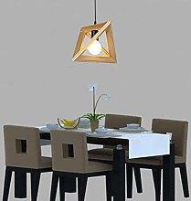 Lampada da tavolo Lampadario semplice in legno