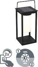 Lampada da tavolo LED moderna nera solare dimmer 3