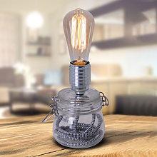 Lampada da tavolo Max con base in vetro