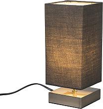 Lampada da tavolo moderna grigia acciaio - MILO