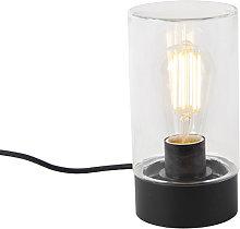 Lampada da tavolo moderna per esterno IP44 nero -